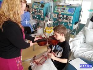 dialysis violin playing